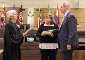 Kevin O'Connell is sworn in